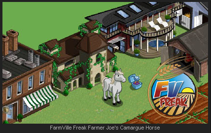 FarmVille Camargue Horse on a Farm