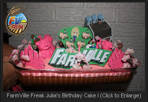 FarmVille Freak Julia's Birthday Cake