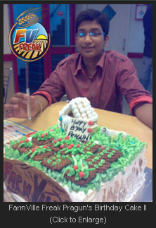 FarmVille Freak Pragun's Birthday Cake II
