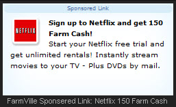 FarmVille Netflix Sponsored Link
