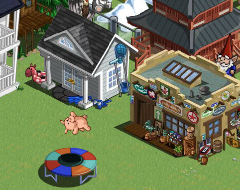 farmville mystery game prizes pig trampoline