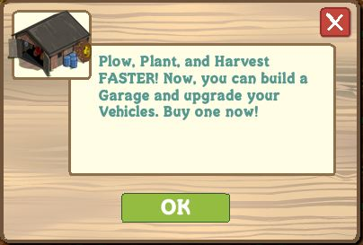 farmville you've got garage message