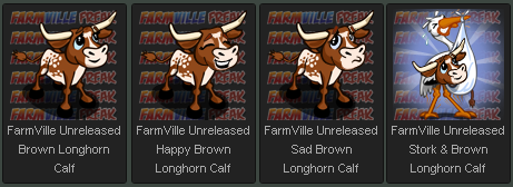 FarmVille Unreleased Adoptable Brown Longhorn Calf
