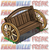 farmville wild west wagon wheel bench