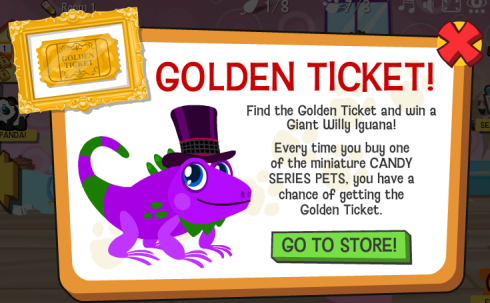 Happy Pets Golden Ticket Giant Willy Iguana