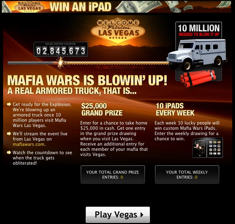 mafia wars publicity stunt: blowing up an armored truck