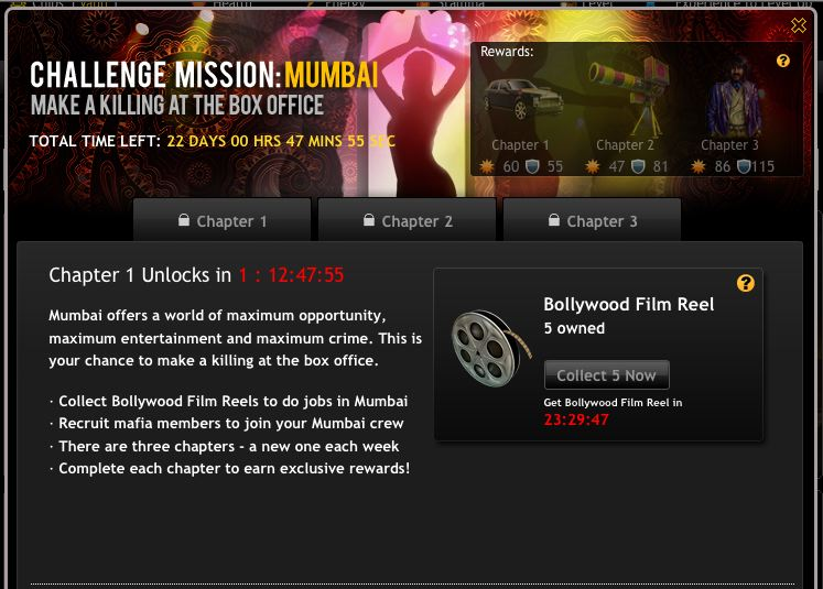 mafia wars challenge mission: killing at box office