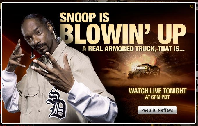 snoop dog blowin it up
