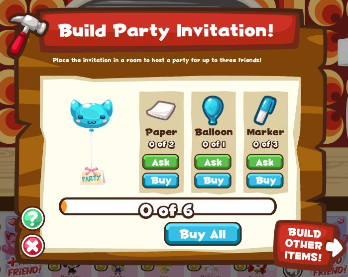 party invite pet society