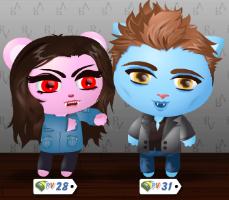 Twilight PetVille Bella vampire with Edward