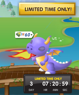 PetVille Limited Time Only Purple Dragon