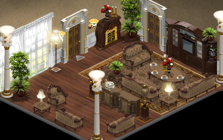 YoVille Victorian Living Room Brown