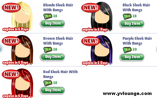YoVille Sleek Hair With Bangs