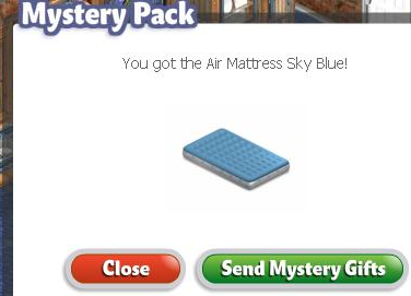 YoVille Green Mystery Pack - Air Mattress Sky Blue