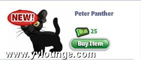 YoVille buy Peter Panther