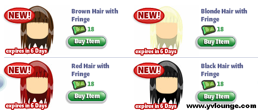 YoVille Hair with Fringe