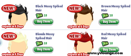 YoVille Messy Spike Hair