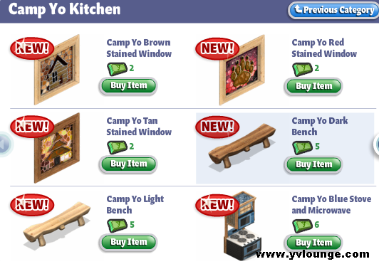 YoVille Camp Yo Kitchen