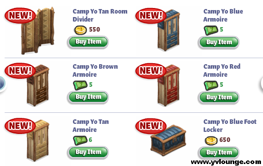 YoVille Camp Yo Bedroom Armoires