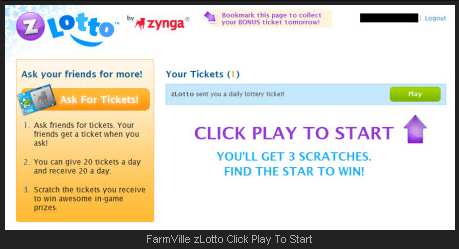 FarmVille zLotto Click Play To Start