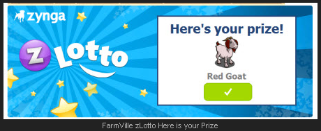 FarmVille zLotto Here is your Prize