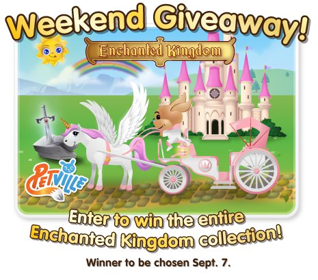PetVille Enchanted Kingdom weekend giveaway