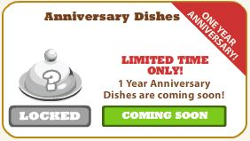 cafe world one-year anniversary dishes