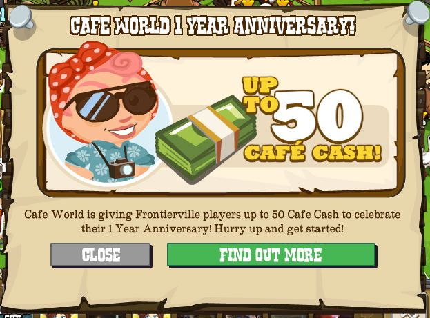 cafe world frontierville free cafe cash