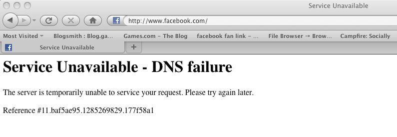 facebook down or intermittant