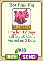 farmville hot pink pig