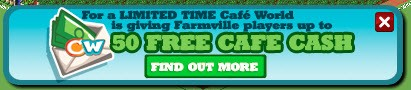 farmville cafe world free cafe cash cross promotion
