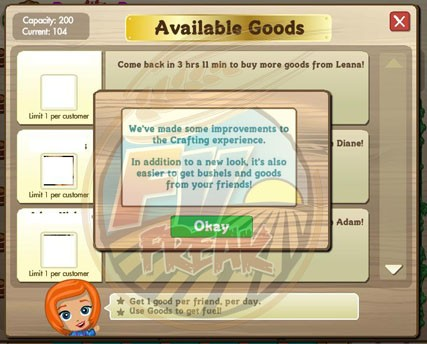 farmville crafting building user interface upgrade
