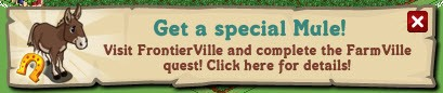 farmville frontierville mule cross promotion