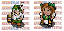 FarmVille German Gnome and Oktoberfest Girl Gnome