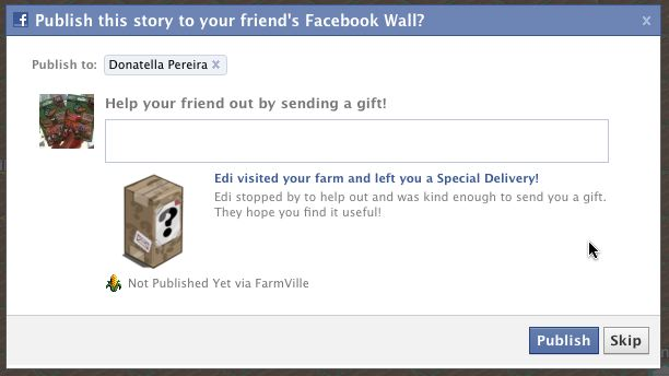 farmville special delivery to specific friends