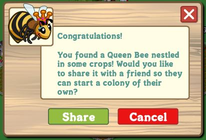 farmville queen bees buzzing around