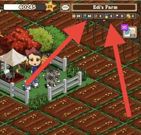 farmville stats menu