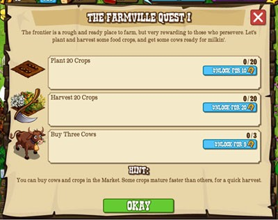 frontierville farmville quest 1