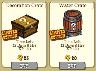 frontierville decor and water crate market -games.com