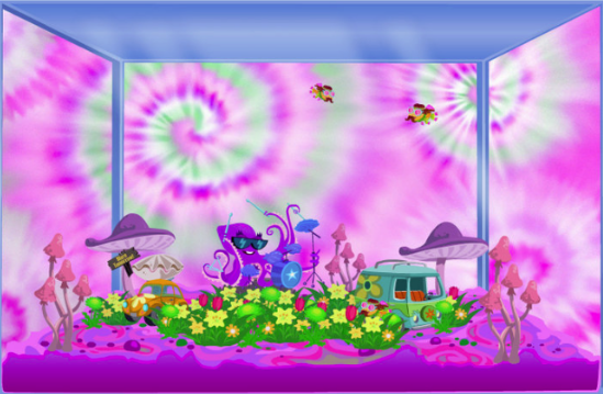 Happy Aquarium Psychedelic tank