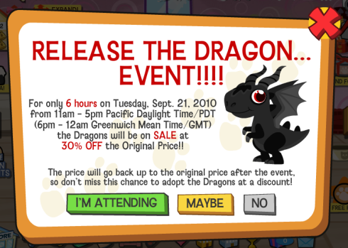 Happy Pets Dragon Event