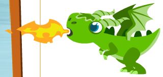 Happy Pets Green Mythic Dragon shooting fire