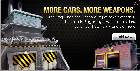 Mafia Wars Weapons Depot and Chop Shop Update