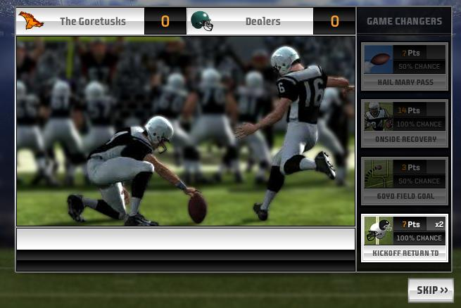 Gameplay from Madden NFL Superstars.