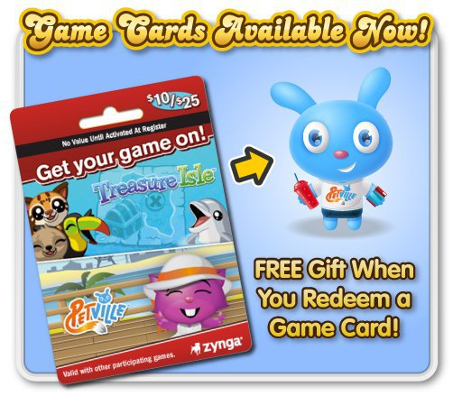 PetVille Game Card promotion with 7-11 and GameStop
