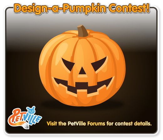 PetVille Design a Pumpkin Contest