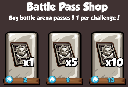 Pirates Ahoy Battle Arena Battle Pass Shop prices