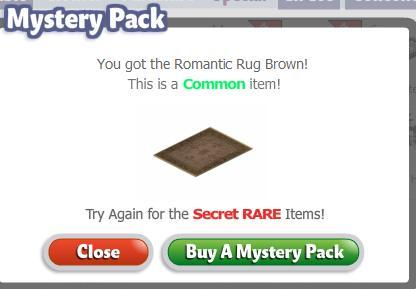 yoville romantic mystery box