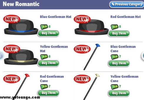 New Romantic Clothes YoVille: Gentlemen