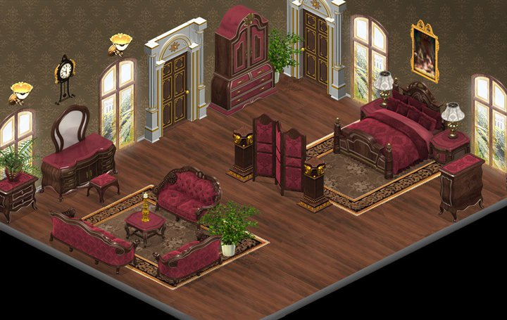 yoville romantic bedroom